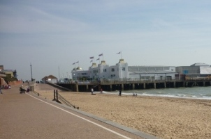 Clacton pier and beach