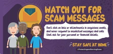 Watch out for Scams - Don't click links or attachments in suspicious emails