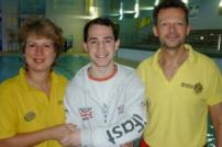 Lifeguards Nicki Leaverns and Kris Loud (right) with 18 year old Jack Hurst