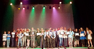 Winners of the Tendring Youth Awards 2018
