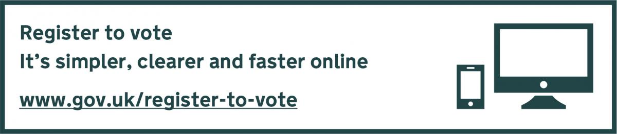 Register to vote online at www.gov.uk/register-to-vote