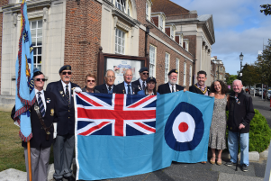 Battle of Britain Flag before it was hoisted in 2019