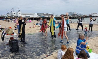 Bollywood dancing during the 2019 Beside the Seaside Festival in Clacton