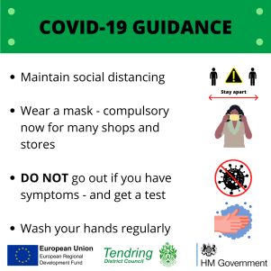 COVID-19 Guidance on regular hand washing, social distancing, and staying in and getting tested if you have symptoms