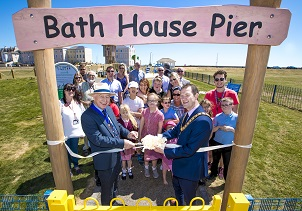 Cllr Eddie Johnson and Cllr Mark Platt open the play area