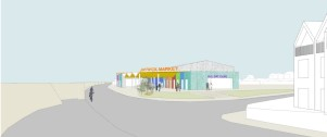 Concept drawing of Jaywick Sands Market