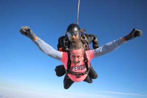Councillor Dan Land Parachuting