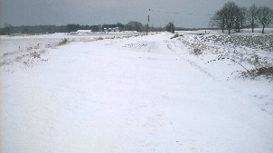 Snow drifts in Tendring district during the wintry weather in late February/early March 2018