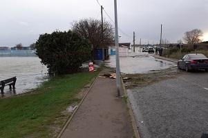 Flooding on Promenade Way in Brightlingsea