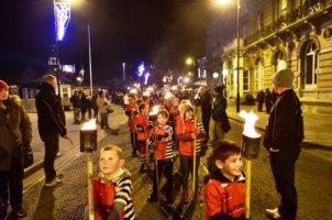 Illuminate festival procession