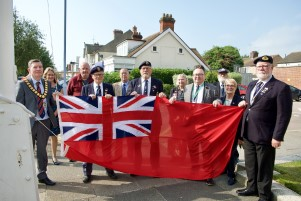 Merchant Navy Flag Raising group