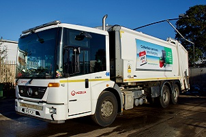 A Veolia bin lorry serving Tendring