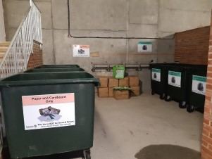 New recycling bins at Waterside Marina in Brightlingsea