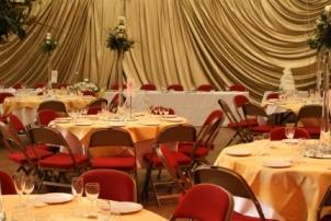Princes Theatre set up for a wedding reception