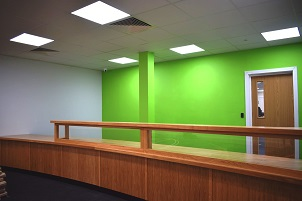 The new-look reception at Tendring District Council's offices in Pier Avenue, Clacton.