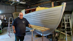 Simon Papendick of J Star Marine Services in his workshop.