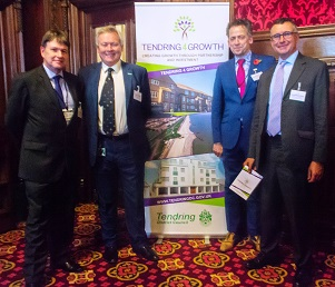 Tendring District Council chief executive Ian Davidson, Clacton MP Giles Watling, council leader Neil Stock and Harwich and North Essex MP Sir Bernard Jenkin