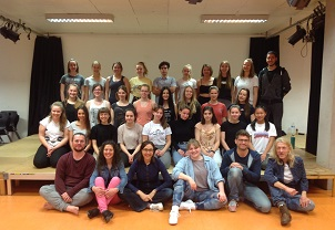 The Juks youth theatre group in Biberach