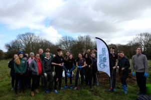 Volunteers who helped to plant the trees