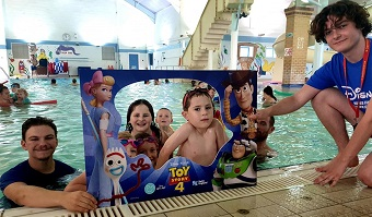 The Toy Story 4 Disney taster session with activator Perry and lifeguard Tommy
