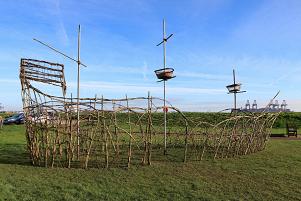 The willow Mayflower sculpture