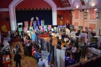 The Princes Theare packed with stalls and prospective job seekers