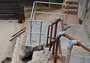 Walton seafront steps damaged by cold weather