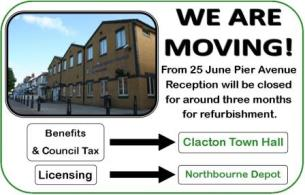 From 25 June Pier Avenue reception will be closed for around three months
