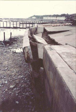 1981 Holland Haven failed seawall due to loss of beach material