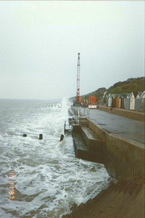 1997 Cliff Road further works being carried out after the loss of the beach replenishment material