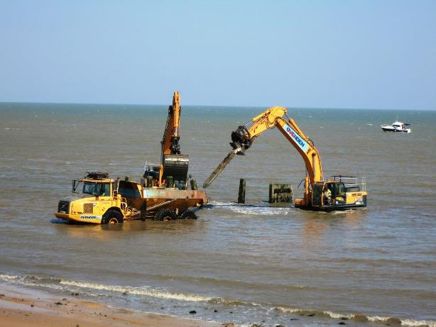 Removing old groynes