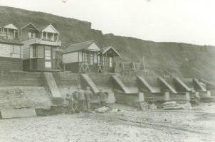 1939 Work being carried out on the toe of the sea wall due a drop in beach levels