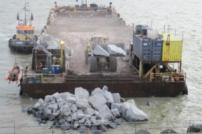 Delivery of coast protection rocks
