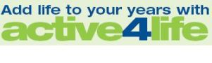 Active for life logo for the over 50s