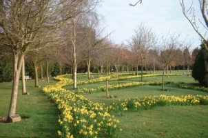 Weeley Crematorium Gardens in the spring