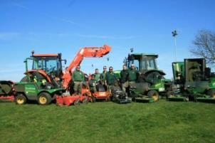 Grass cutting machinery and staff