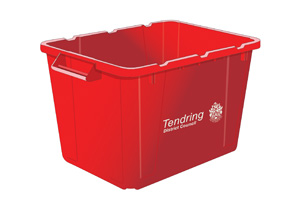 Red recycling box information