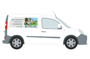 Tendring District Council Recycling van