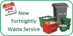 New fortnightly waste service from June 2019