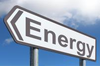 Road sign with text 'Energy'