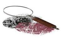 Magnifying glass and fingerprints