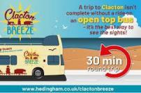Clacton Breeze open top bus ride, 30 minute round trip