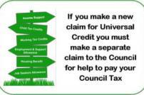 Apply for Local Council Tax support separately to Universal Credit
