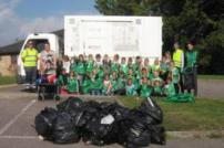All Saints litter pick