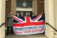 Armed Forces Day with Councillor Chris Amos, Councillor Jeff Bray and Ian Davidson
