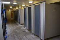 The locker area at Clacton Leisure Centre