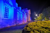 Clacton Town Hall lit up blue for nurses and midwives