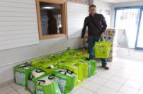 Councillor Neil Stock with food parcels at Clacton Community Hub