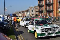 Clacton seafront and the service area during the 2018 Corbeau Seats Rally Tendring and Clacton