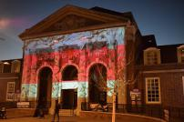 Clacton Town Hall lit up for Help for Heroes